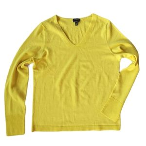 Talbots merino wool top yellow sz M…
